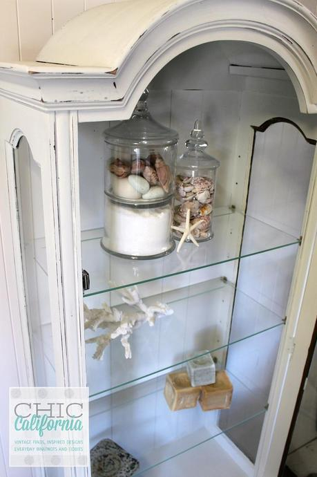 inside of china cabinet