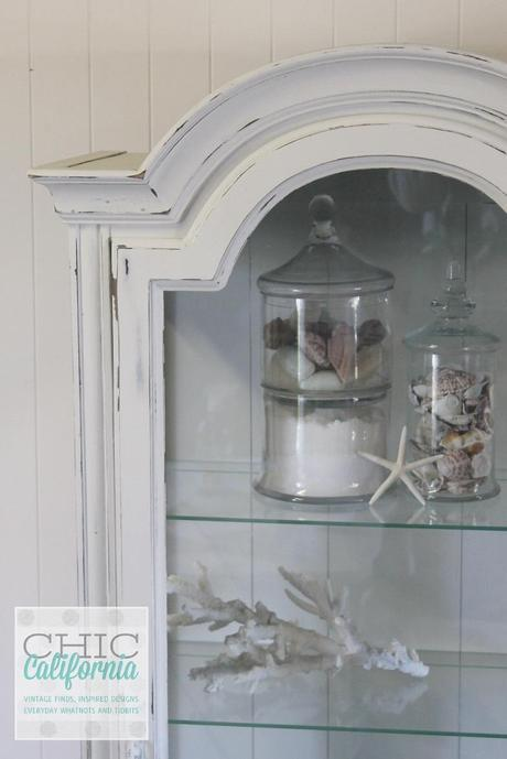 side top of china cabinet