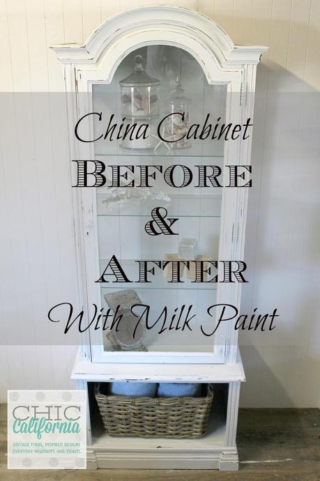 China Cabinet Before and After: Milk Paint Transformation