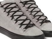 Grey Days Fall: Balenciaga Arena Suede High Sneakers