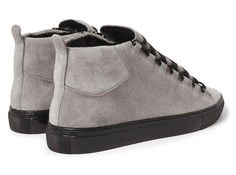 Grey Days For Fall  Balenciaga Arena Suede High Top Sneakers - Paperblog 9daad5c6df06