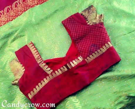 Blouse Design For Kanchipuram Silk Saree Reception Saree