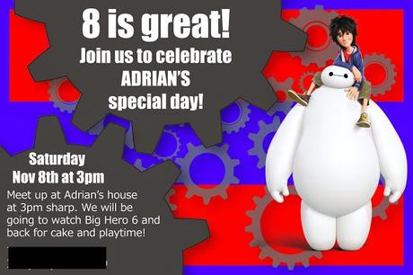 Big Hero 6 Party Invitation