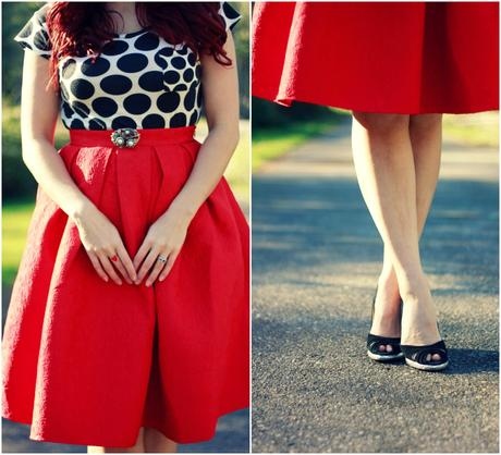 Polka dots, roses, and hearts | www.eccentricowl.com
