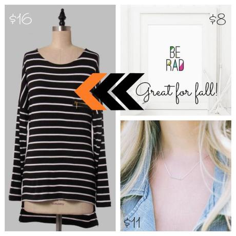 Nook-And-Sea-Collage-Brickyard-Buffalo-Picks-of-the-Week-Striped-Tunic-Dress-Shirt-Top-Zippered-Fall-Autumn-Fashion-Outfit-Clothes-Printable-Home-Inspirational-Necklace-Dainty-Bar