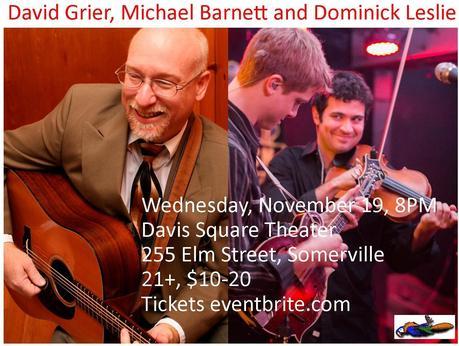 Progressive Bluegrass Comes to Davis Square November 19