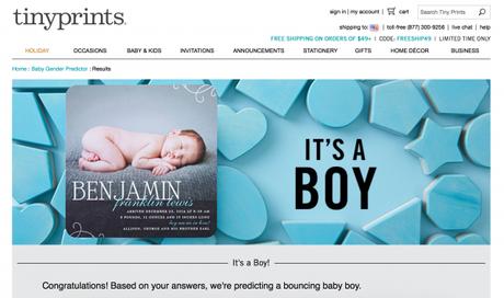 TinyPrints.com: Baby Gender Predictor