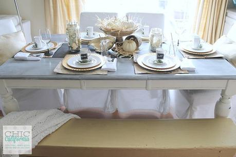 Gold Glam and Farm Fresh Thanksgiving Table by Chic California