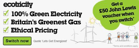Get a £50 John Lewis voucher when you switch to 100% green electricity with Ecotricity