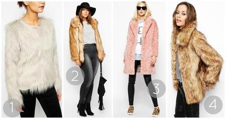 faux fur coats plus petite vintage