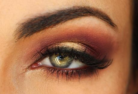 Burgundy/Plum & Gold Fall Makeup Tutorial