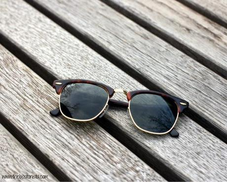 The Sunglasses in Stoker, Boston Fashion, Boston Fashion Blog, Ray Bans, Ray Ban Clubmaster, Classic Accessories, Stoker, Mia Wasikowska Style, Celebrity style, Stoker Ray Bans,