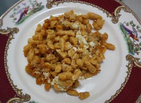 Baked Spaetzle plate