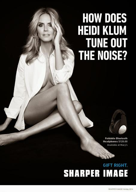 HEIDI KLUM IS THE FACE OF SHARPER IMAGE THIS HOLIDAY SEASON