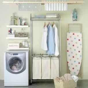 The Perfect Small Laundry Room