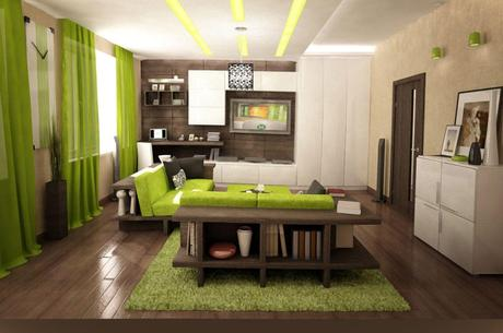 Dark Green Color Walls