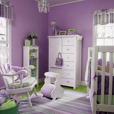 Purple Green Little Girls Room Paperblog