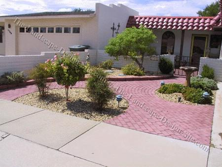 Front entry paver ideas paperblog for Paved front garden designs