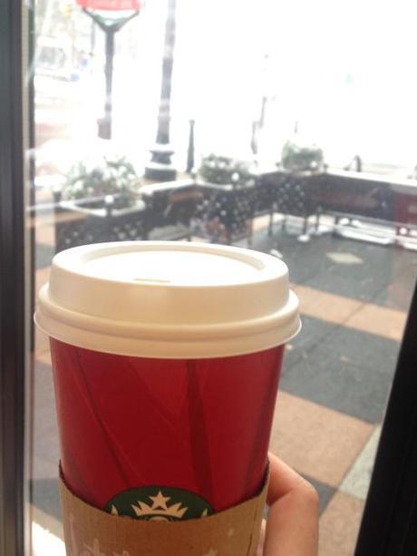 Starbucks Coffe On A Snowy Day
