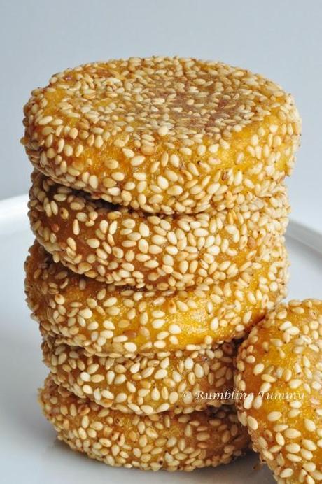 Sesame Pumpkin Pancakes 芝麻南瓜餅