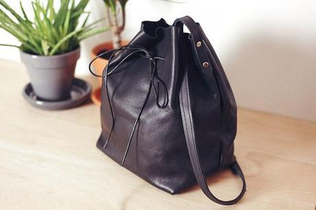 DIY Leather Bucket Bag