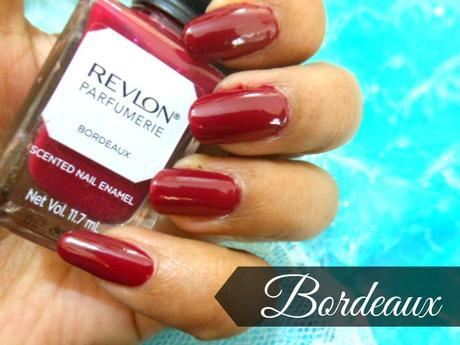Burgundy Nails with Revlon Parfumerie Scented Nail Color Bordeaux