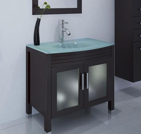 Glass Integrated Counter for Bath Vanity