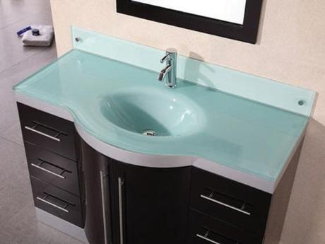 Integrated Glass Bathroom Countertop