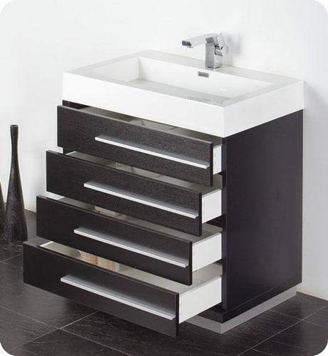 Livello Single Bath Vanity with Integrated Sink