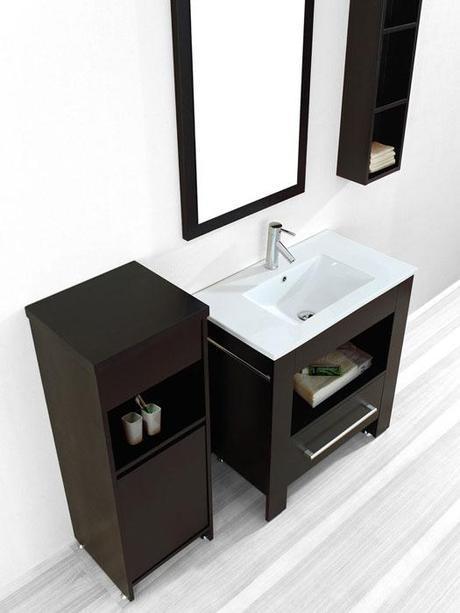Masselin Modern Bath Vanity with Open Shelf