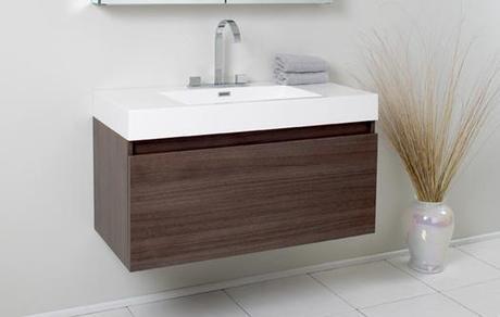 Fresca Mezzo Wall Mounted Bath Vanity