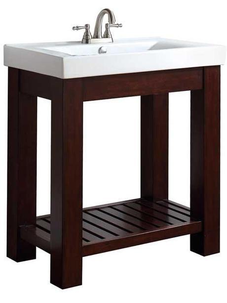 Vianos Open Shelf Bathroom Vanity