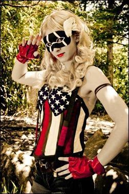 Sparky Cosplay as Female Captain America