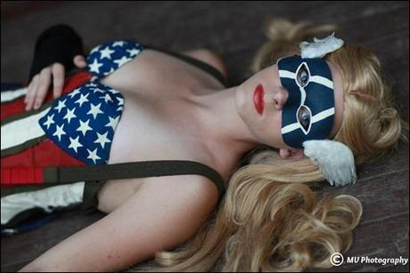 Sparky Cosplay as Female Captain America (Photo by MV Photography)