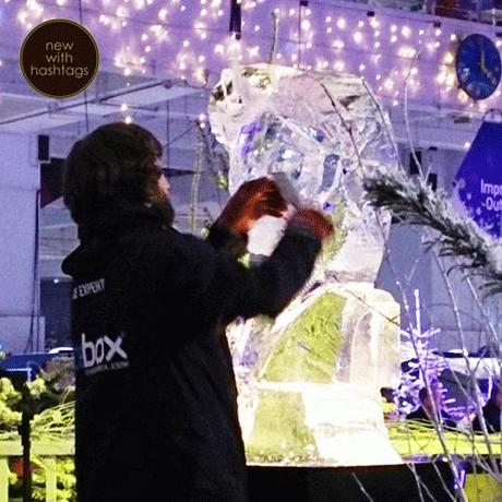 Ideal-Home-Show-Christmas-2014-ice-sculpting