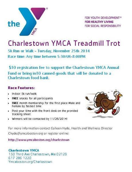Charlestown YMCA Treadmill Trot