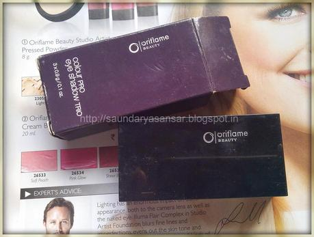 Oriflame Pro Color Eye Shadow Trio- Bronzed Taupe .....Review
