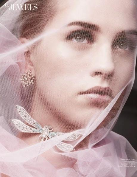 Julia Frauche by Benjamin Lennox for Harper's Bazaar Magazine,US, December 2014 Diamonds Unveiled