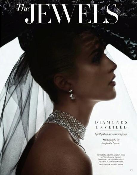 Julia Frauche by Benjamin Lennox for Harper's Bazaar Magazine,US, December 2014