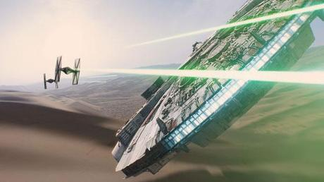 Star Wars The Force Awakens Millennium Falcon Tie Fighter