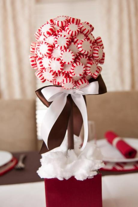 Holiday decor peppermint candy edition paper