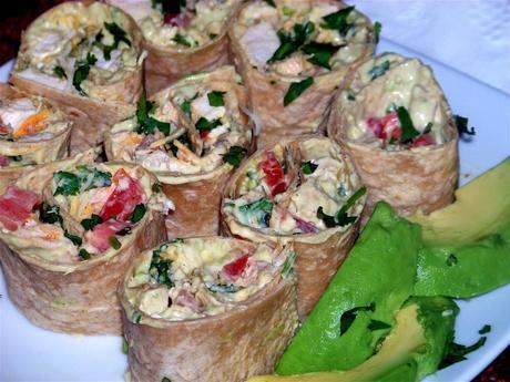 Avocado Cream and Chicken Rollups