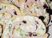Holiday Turkey Pinwheel Appetizers with Goat Cheese Apples