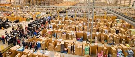 Amazon fulfillment and the robots at work .... !!