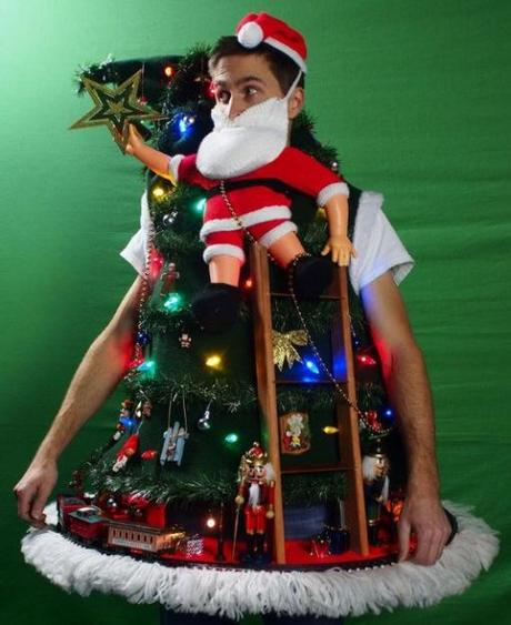 Train Going Around Christmas Tree