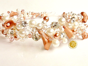 Pretty Pearl Rose Gold Wedding Crown