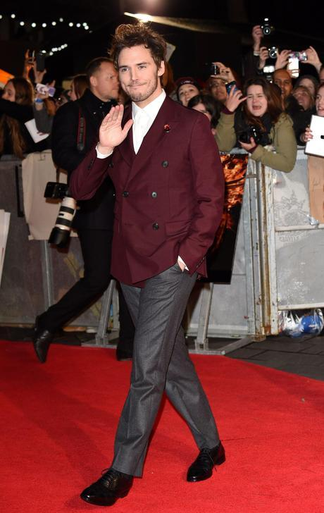 the hunger games mockingjay part 1 world premiere red carpet sam claflin.min 1 celebrity fashion