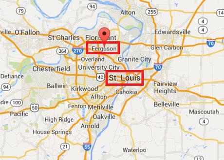 Ferguson St. Louis map
