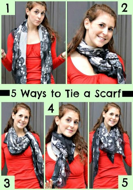 5 Ways to Tie a Scarf via Fitful Focus #fitnfashionable #fashiontip #scarves