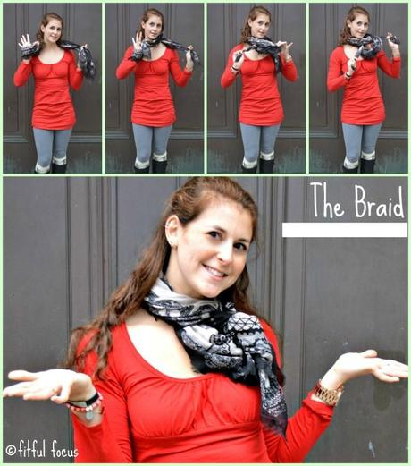 The Braid Scarf Style via Fitful Focus #fitnfashionable #fashiontip #style #scarves #howto